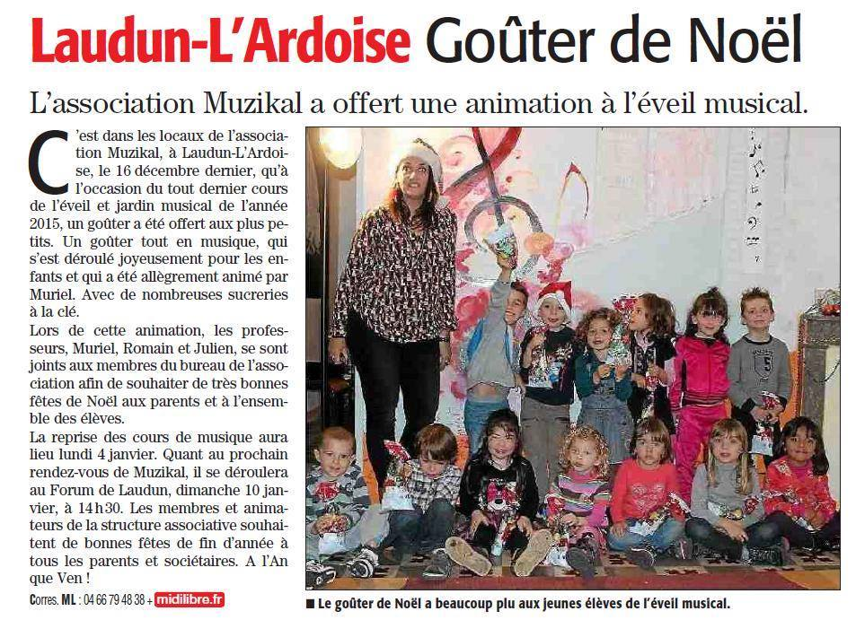 Article midi libre eveil musical noel